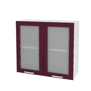Шкаф верхний со стеклом Кремона ШВС 800 МДФ крем