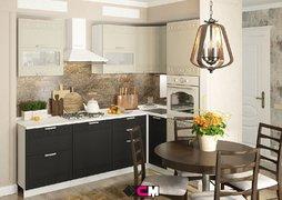Кухня угловая Кремона МДФ Крем-Оникс Комплект 2,4х1,6м