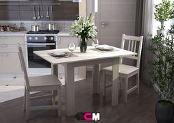 Стол кухонный раскладной шимо светлый