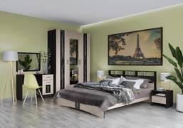 Модульная спальня Эрика венге - дуб молочный комплект-2
