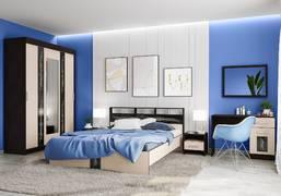Модульная спальня Эрика венге - дуб молочный комплект-3