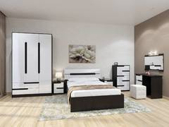Модульная спальня Гавана венге - акрил белый комплект-2