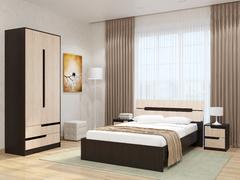 Модульная спальня Гавана венге - дуб молочный комплект-2