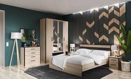 Модульная спальня Лирика дуб сонома - венге комплект-2