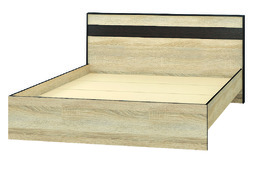 Кровать 1400 Лирика ЛК-1 дуб сонома - венге