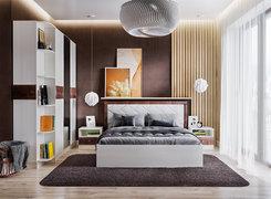 Кровать Мадлен 1400 ясень анкор светлый — дуб бомонд какао