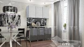 Кухня Титан 1,5м ст-ца черный мрамор