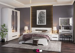 Модульная спальня Валенсия дуб анкор светлый композиция-2