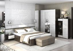 Модульная спальня Вегас венге - белый глянец