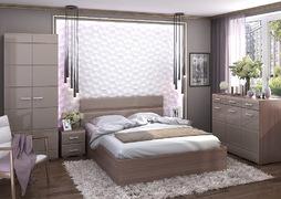 Модульная спальня Вегас ясень шимо темный - кофе с молоком