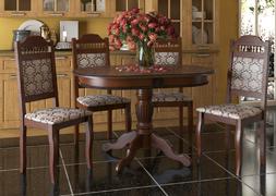 Стол обеденный Верона+ орех - патина черная