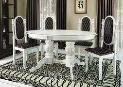 Стол обеденный Верона 1 белый - патина серебро