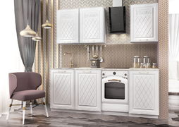 Кухня Вита Голд 1,6м белый